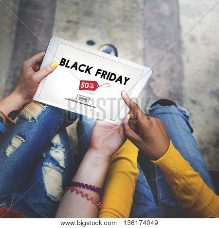 Black Friday Promotion Discount Consumer Shopping Concept