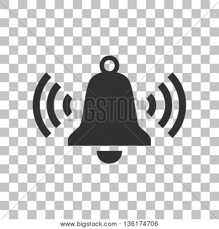 Ringing bell icon. Dark gray icon on transparent background.