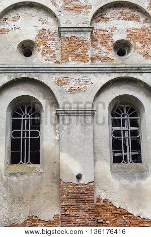 Burned XVII century church of St. Michael the Archangel in Stara Sil - Western Ukraine