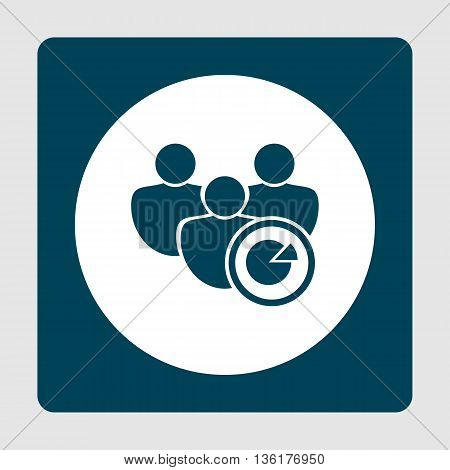 User Pie Icon In Vector Format. Premium Quality User Pie Symbol. Web Graphic User Pie Sign On Blue B