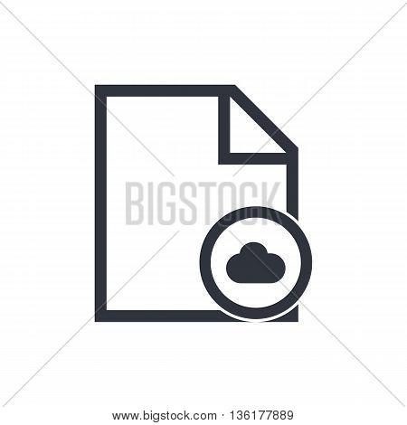 File Cloud Icon In Vector Format. Premium Quality File Cloud Symbol. Web Graphic File Cloud Sign On
