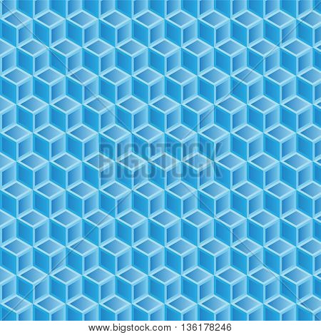 blue gradient double filled geometric pattern background vector illustration image with light blue gradient squares and dark blue gradient squares
