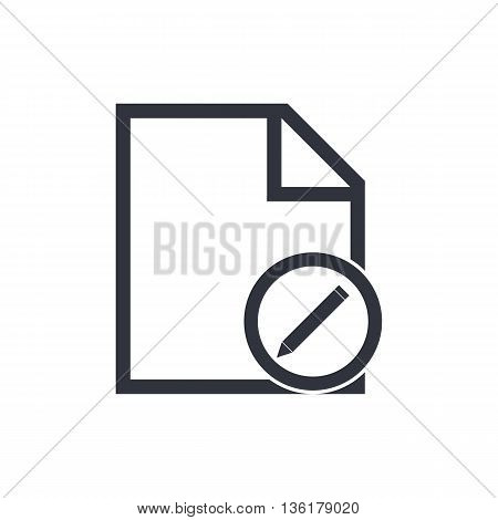 File Edit Icon In Vector Format. Premium Quality File Edit Symbol. Web Graphic File Edit Sign On Whi
