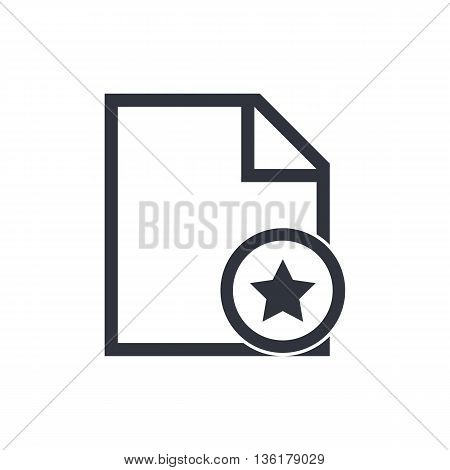 File Star Icon In Vector Format. Premium Quality File Star Symbol. Web Graphic File Star Sign On Whi