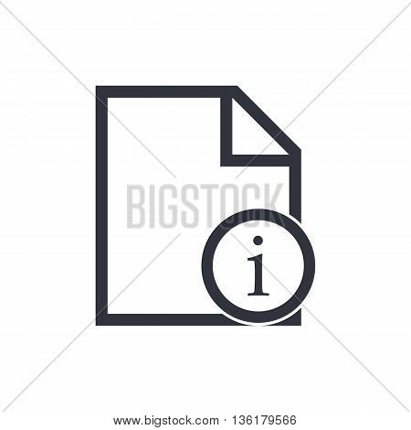 File Info Icon In Vector Format. Premium Quality File Info Symbol. Web Graphic File Info Sign On Whi