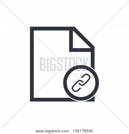 File Link Icon In Vector Format. Premium Quality File Link Symbol. Web Graphic File Link Sign On Whi