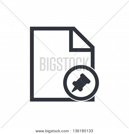 File Pin Icon In Vector Format. Premium Quality File Pin Symbol. Web Graphic File Pin Sign On White