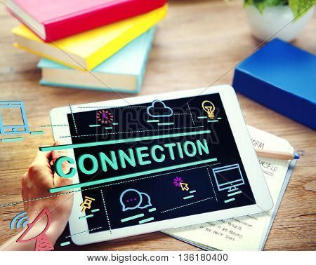 Connection Bond Networking Social Media Link Concept