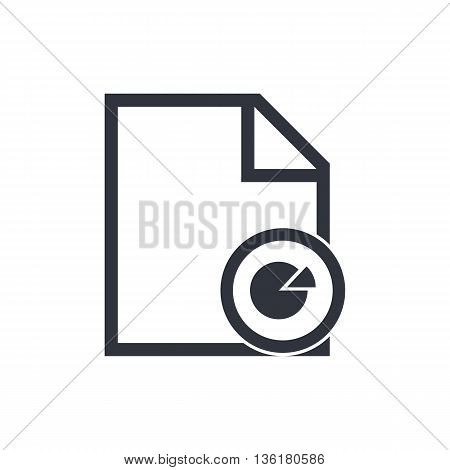 File Pie Icon In Vector Format. Premium Quality File Pie Symbol. Web Graphic File Pie Sign On White