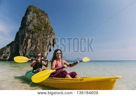 Kayak Activity Leisure Beach Sea Concept