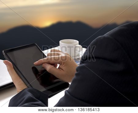 Man Touch Tablet