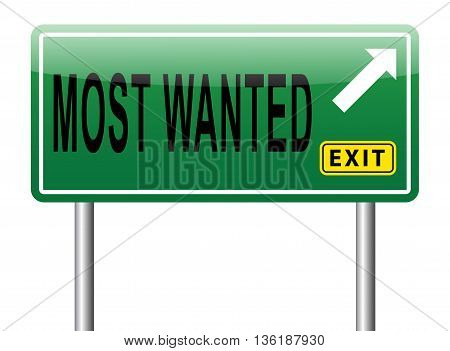 most wanted button want help road sign