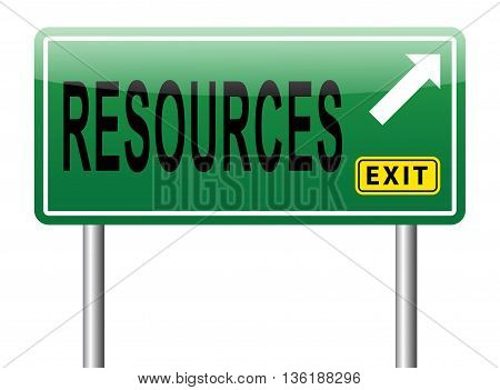 Resources human or natural resource sign road sign