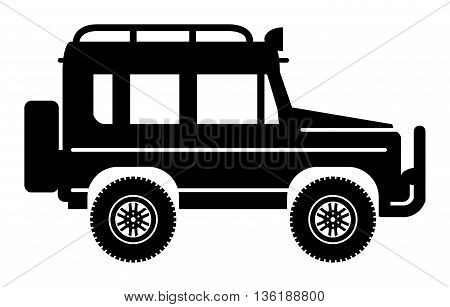 Off-road vehicle on white background, vector illustration