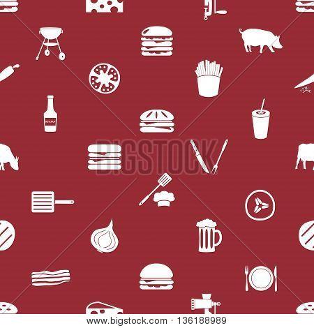 Hamburger Theme Modern Simple Icons Seamless Pattern Eps10
