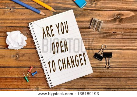 Question Are you open to change on notebook