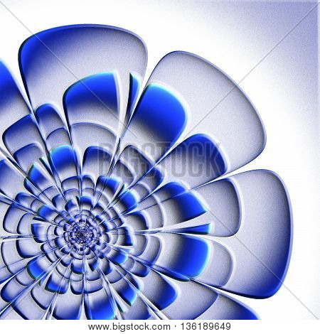 Beautiful fractal flower with embossed effect. Artwork for creative design art and entertainment.