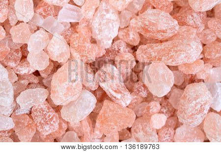 Pink salt himalaya on background close up