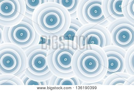 Seamless background of curved rounds. Vector illustration