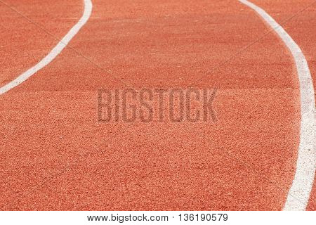 Running track close-up for the sport background.