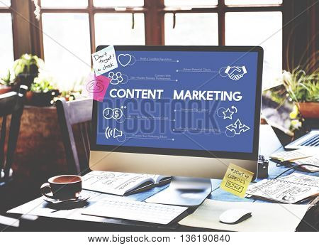 Computer Commerce Business Content Marketing Concept