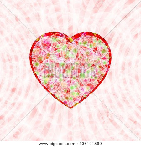 Heart shape on a tender background for decoration themes of love wedding Valentine's Day; Eps10