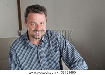 Man On The Sofa At Home Relaxing