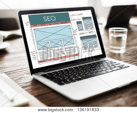 SEO Search Engine Optimization Data Digital Concept