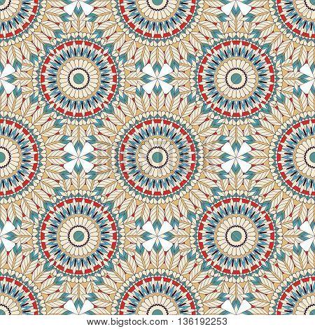 beautiful seamless pattern in boho style. Boho mandala.