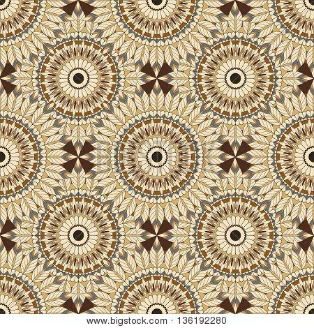 beautiful vector pattern in boho style. Boho mandala.