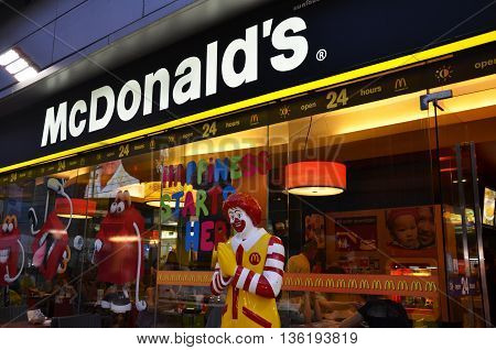 Mcdonald Restaurant In Bangkok, Thailand