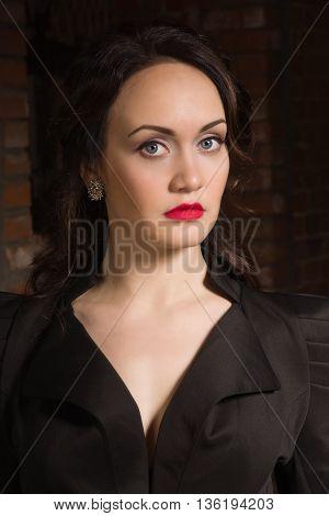 Retro Styled Fashion Portrait Of A Woman