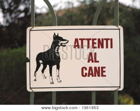 Guard Dog Warning