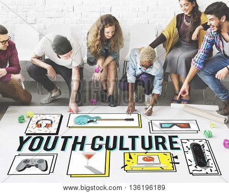 Youth Culture Free Yolo Trendy Teenage Concept