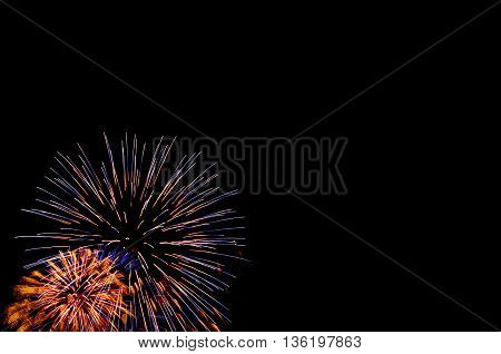 International Fireworks Show In The Night