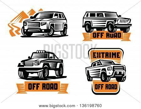 vector illustration of a off-road suv car