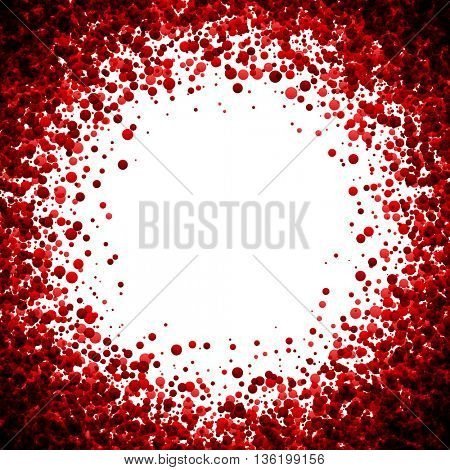 White paper background with red drops. Vector illustration.