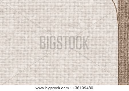 Textile frame fabric industry fawn canvas aged material rough background