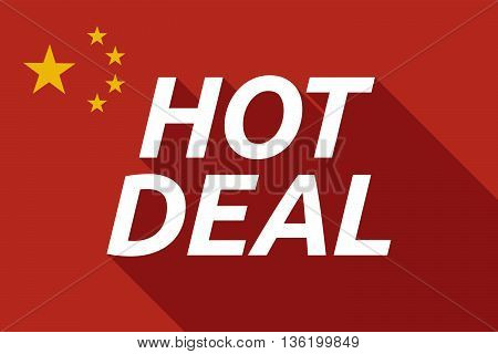 Long Shadow China Flag With    The Text Hot Deal
