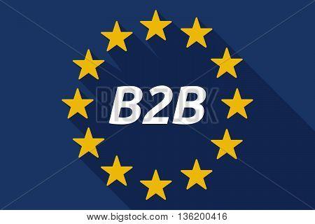 Long Shadow European Union Flag With    The Text B2B