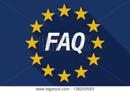 Long Shadow European Union Flag With    The Text Faq