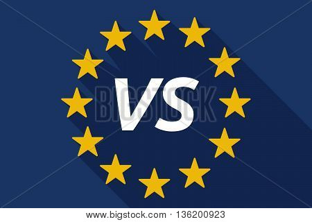 Long Shadow European Union Flag With    The Text Vs