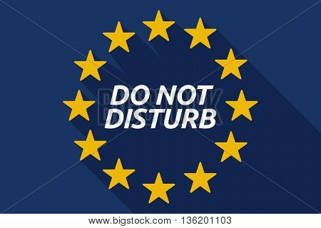 Long Shadow European Union Flag With    The Text Do Not Disturb