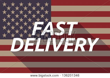Long Shadow Usa Flag With    The Text Fast Delivery