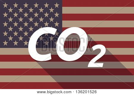 Long Shadow Usa Flag With    The Text Co2