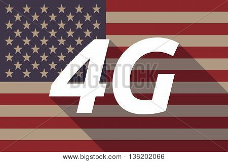 Long Shadow Usa Flag With    The Text 4G