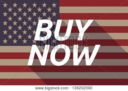 Long Shadow Usa Flag With    The Text Buy Now