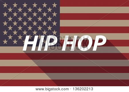 Long Shadow Usa Flag With    The Text Hip Hop
