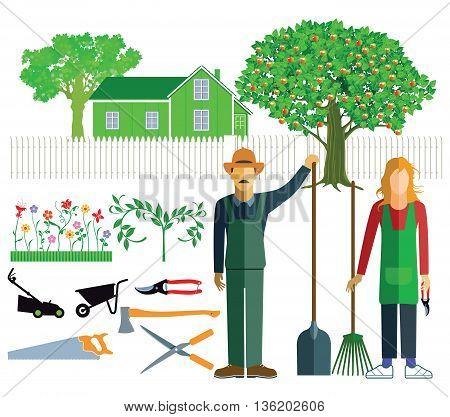 Gardeners and gardener, horticulture, garden, gardening, plants