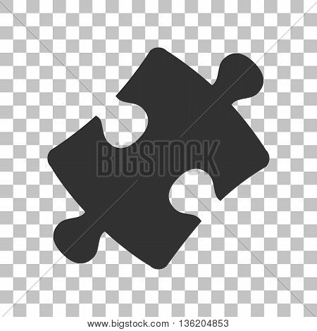 Puzzle piece sign. Dark gray icon on transparent background.